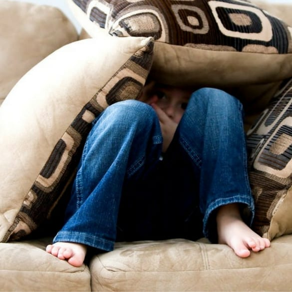 young girl hiding - anxiety treatment