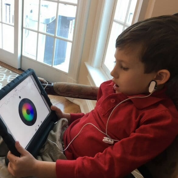 Patient with Tablet - Neurofeedback - Biofeedback Treatment