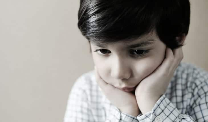 Young boy with anxiety