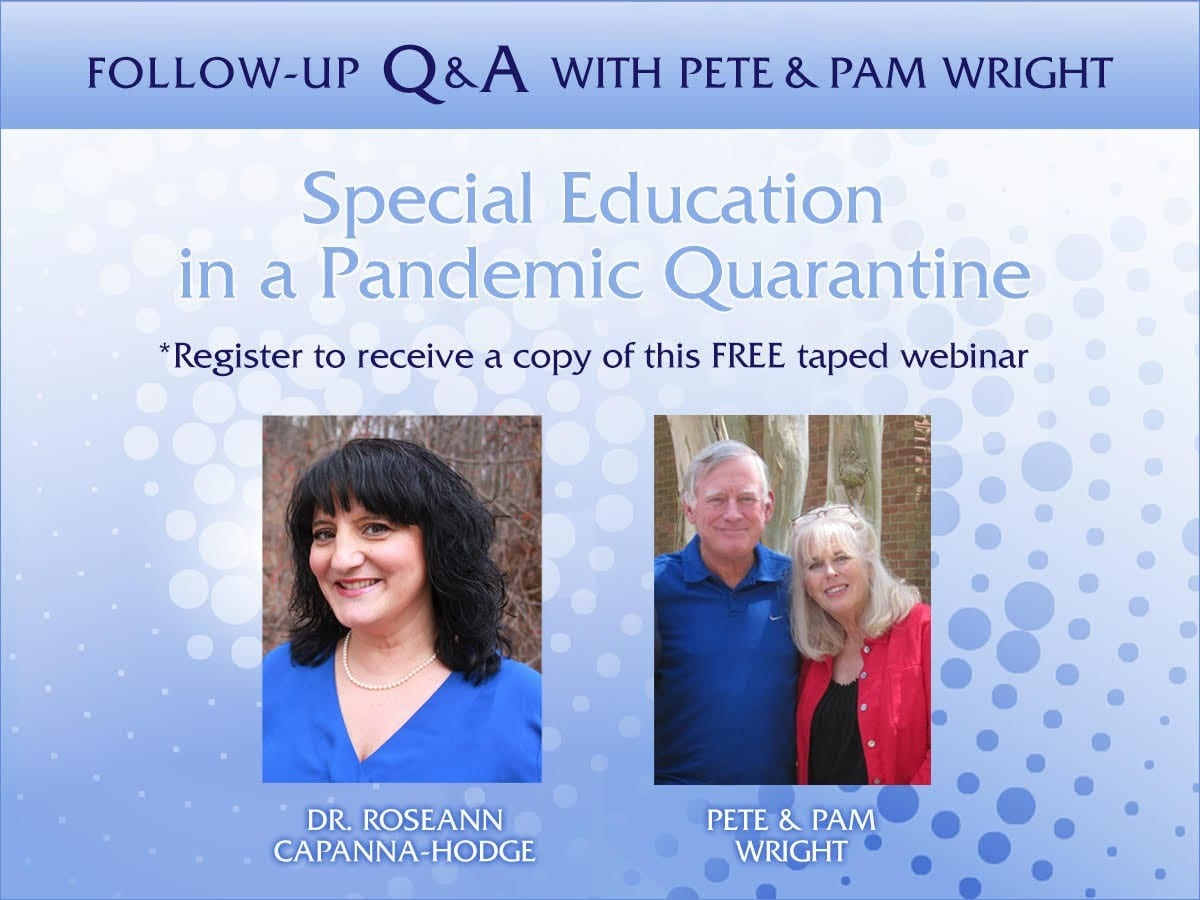 Special Education in a Pandemic Quarantine