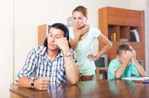 stressed family